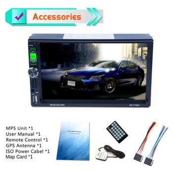 7 inç tam HD 1080 P araba DVD MP5 çalar GPS Navigator Bluetooth FM/RDS radyo araba multimedya oynatıcı destek Mirrorlink